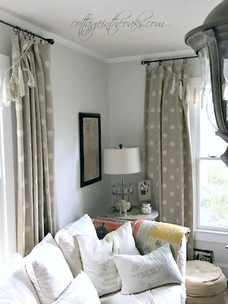 DIY Cottage Living Room Curtains
